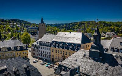 Zschopau Altmarkt und Shcloss Wildeck